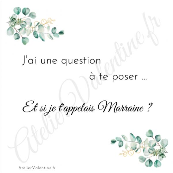 """Et si je t'appelais Marraine ? - Bracelet jonc """"Marraine ❤️"""", cadeau original Marraine , demande Marraine, jonc ouvert"""