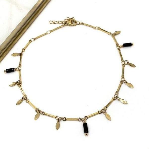 """Bracelet cheville Milë Mila modèle """"Merveilleuse"""" en acier inoxydable"""